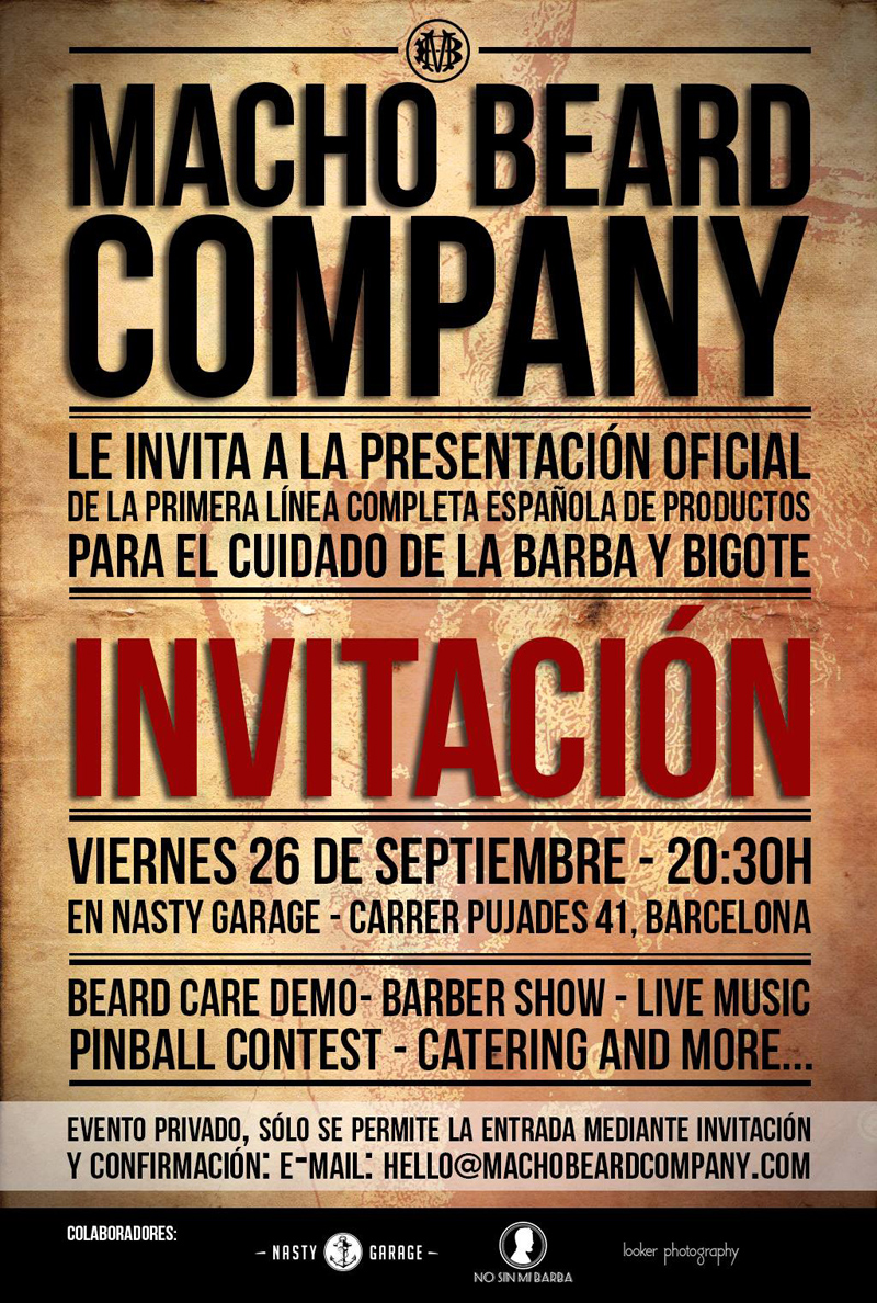 invitación macho beard company